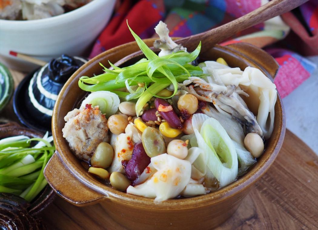 【包まないワンタン】お豆たっぷり時短簡単ワンタンスープ